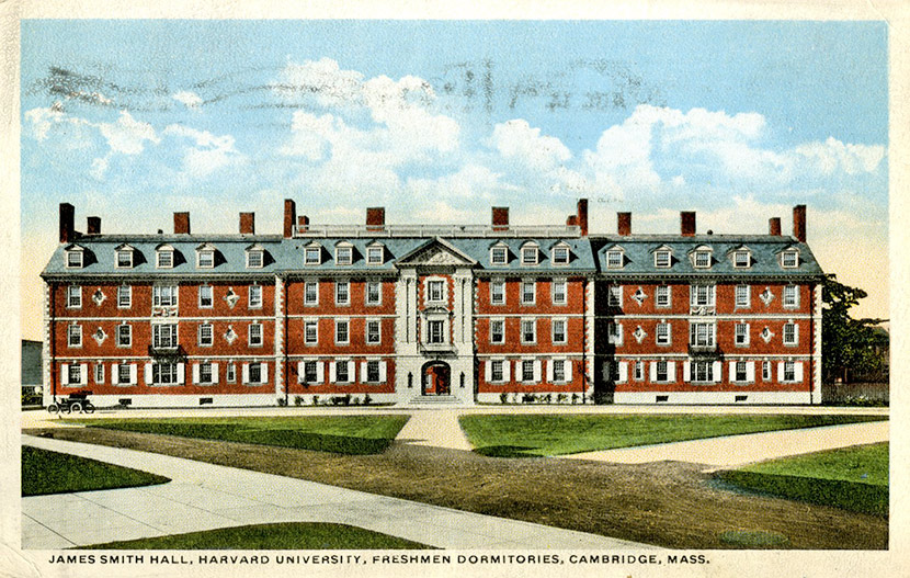 James Smith Hall dormitory at Harvard University.