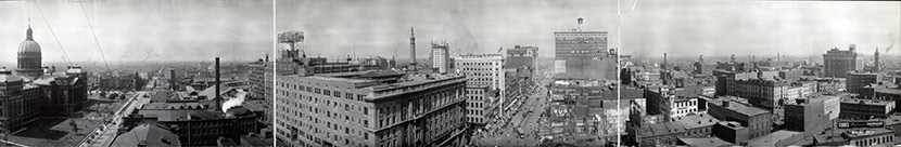 Panoramic view of Indianapolis.
