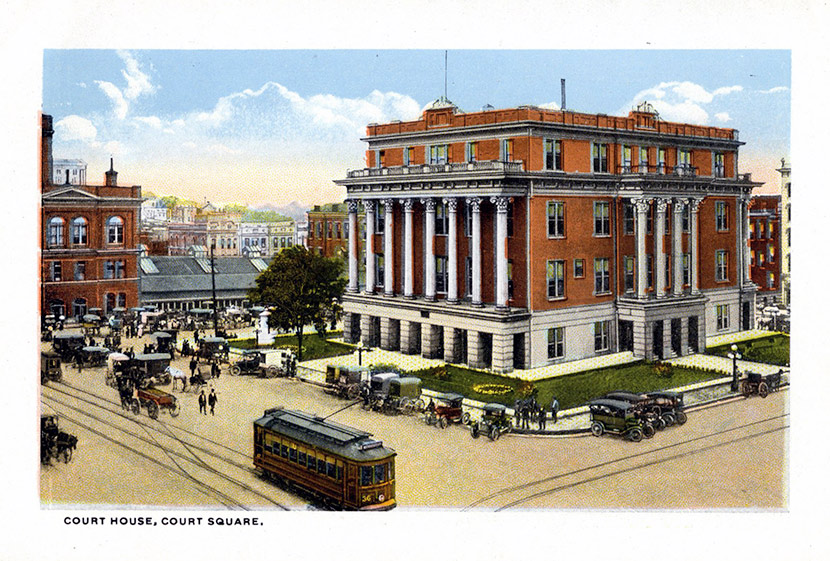 Nashville's Court House. The building served the city's judicial needs from 1859 until 1935, when it was demolished to make room for a new courthouse.