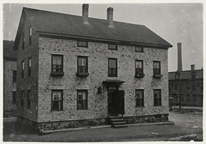 The King Philip Settlement House at 334 Tuttle Street. Volunteers here provided meals and other services for South End families stricken by influenza during the epidemic.