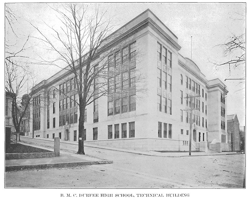 The B M C Durfee Technical High School Building Served As An Emergency Hospital For Influenza A View Of Fall River S
