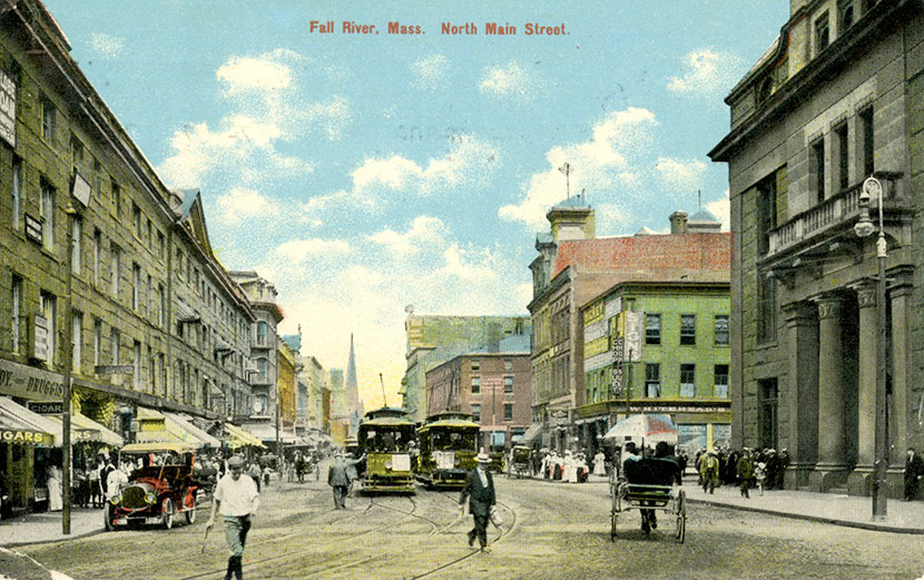 A View Of Fall River S North Main Street