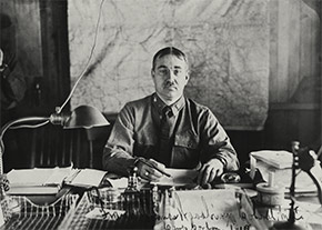 Colonel Frank T. Woodbury, chief medical officer of Camp Gordon, in 1918. Col. Woodbury was the man responsible for handling the camp's epidemic.